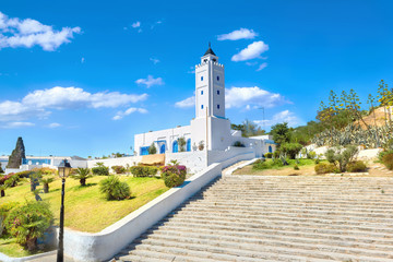 Mosque of Sidi Bou Said village. Tunisia, North Africa
