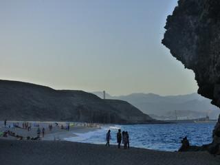 La playa de los Muertos, playa de Cabo de Gata en la costa de Almería (Andalucia,España), situada en el municipio de Carboneras