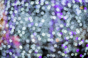Abstract blurred bokeh background from illumination light.