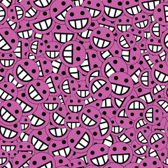 background of emoticons lilac