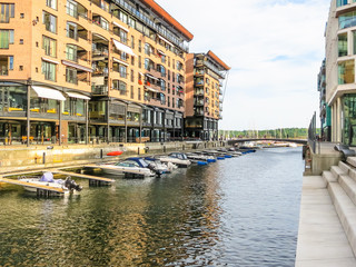Channels of the Aker Brygge area