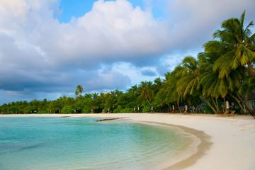 Landscape of beautiful sunset in Maldives