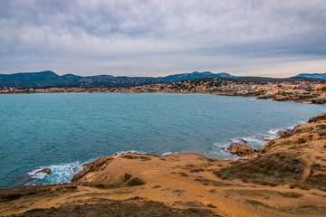 Vu sur Six-Four-les-Plages et Sanary-sur-Mer du cap Nègre