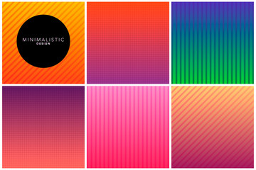 Abstract line background in gradient tones
