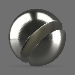 Polished cobalt chrome metal, silver