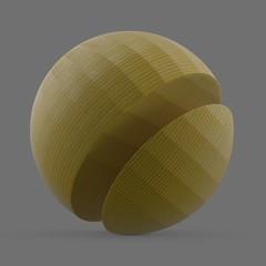 Thin yellow plastic filament