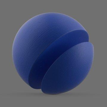Blue matte plastic