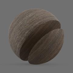 Dark, tinted wood pulp