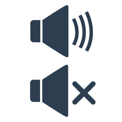 Volume sound icon on white background.