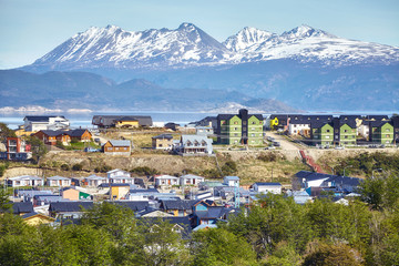 Ushuaia city, capital of Tierra del Fuego, commonly known as the southernmost city in the world, Argentina.