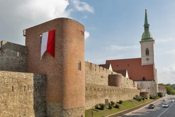 Bratislava ancient city walls, Slovakia.