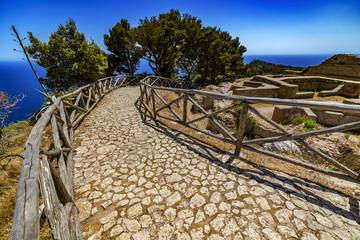 Italy. Capri Island. Villa Jovis built by emperor Tiberius - remains the east part