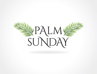 Palm Sunday Christian Holiday Theme Illustration