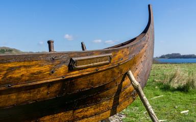Wikingrschiff aus holz