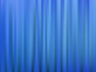 Blue closed theater curtain. Abstract vector background.