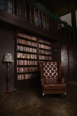 Classical library room