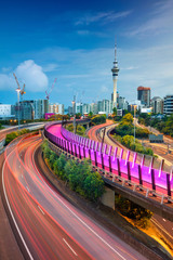 Foto op Canvas Oceanië Auckland. Cityscape image of Auckland skyline, New Zealand at dawn.
