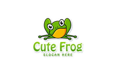 Cute Frog logo designs vector