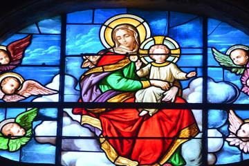 Pontoise, France - july 26 2017 : Saint Maclou cathedral