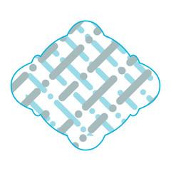 Lines and dots frame emblem