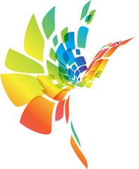 Fantasy abstract colorful bird