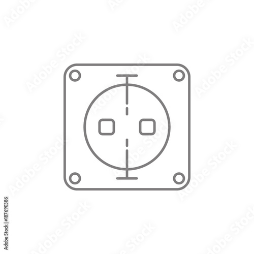 electric outlet icon  Web element  Premium quality graphic design