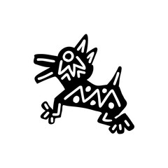 Dog icon  Aztec