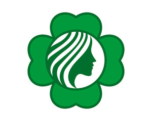 clover woman silhouette icon