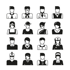 people avatar icons, profession icons