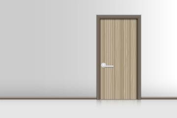 Realistic single door and interiors decorative, Indoor concept