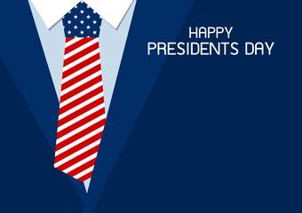 Happy presidents day design of USA necktie vector illustration
