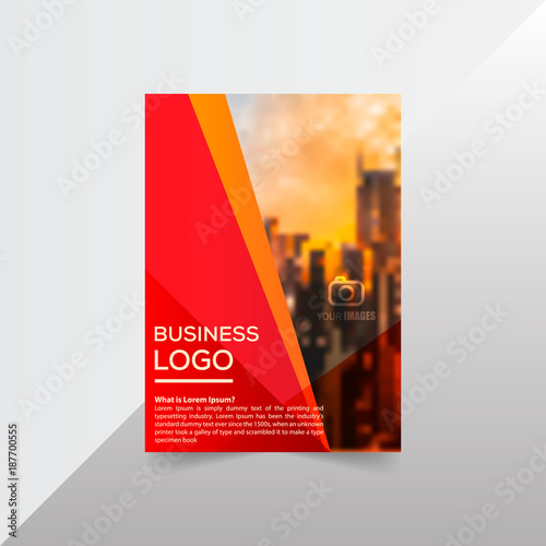 layout brochure template flayer magazine cover design for annual report - Settlement Brochure Template