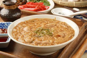Taiwan famous food - pork intestine thin noodles
