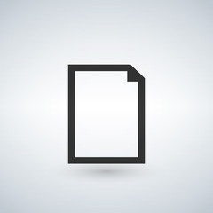 New blank Document vector icon. Illustration isolated for graphic and web design.