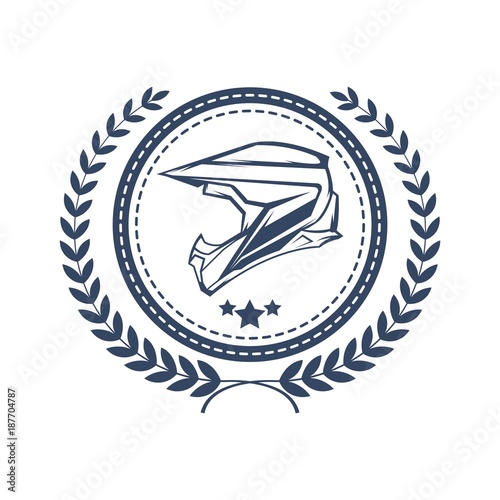 Laurel wreath logo template\