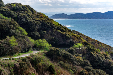 road above the sea of japan