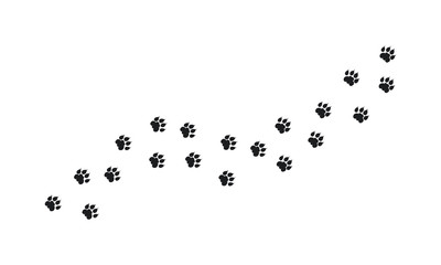 Tiger Walking Foot print designs, Lion Foot print Pattern