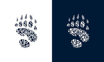 Bear Walking Foot print designs, Bear Foot print Pattern