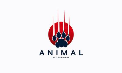 Beast Animal Paw Iconic Logo designs concept