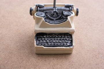 Retro syled tiny typewriter model