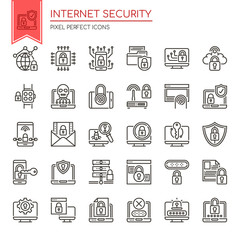 Internet Security , Thin Line and Pixel Perfect Icons.