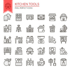 Kitchen Tools , Thin Line and Pixel Perfect Icons.