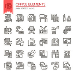 Office Elements , Thin Line and Pixel Perfect Icons.