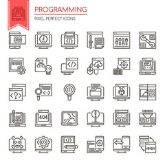 Programming , Thin Line and Pixel Perfect Icons.