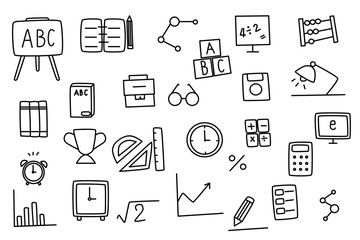 Education doodle set.