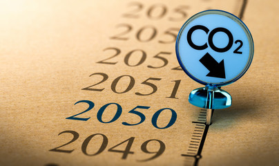 2050 climate plan, reduce carbon dioxide footprint.