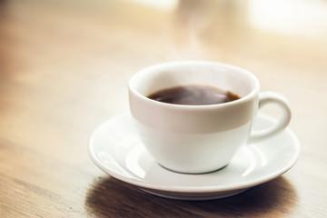 Hot black espresso coffee in the cup Fototapete