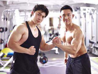 portrait of young asian bodybuilders