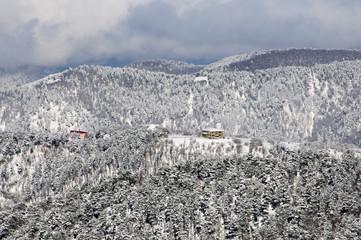 Mountains near the village of Arkhyz.