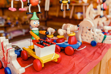 Wooden educational toys on the store for sale